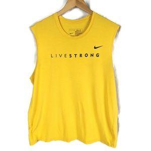 Nike Livestrong Tank Top Mens L Yellow Black